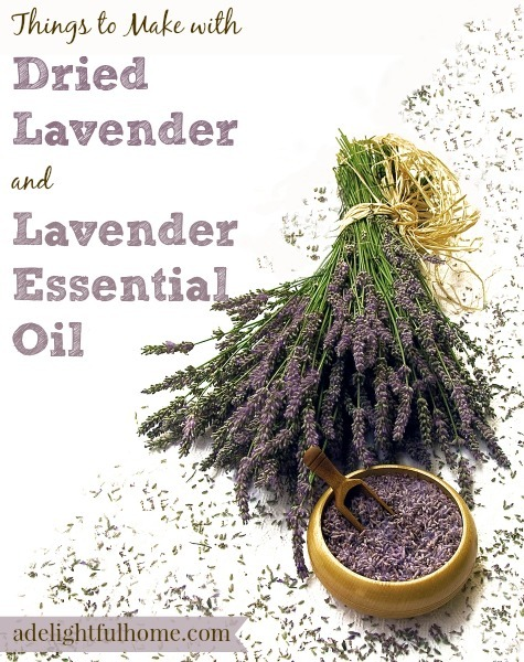 things to make with dried lavender