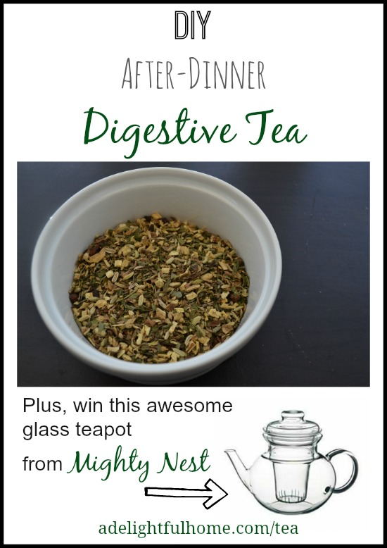 DIY After-Dinner Digestive Tea - and glass teapot giveaway