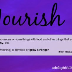 Word of the Year, Nourish | aDelightfulHome.com