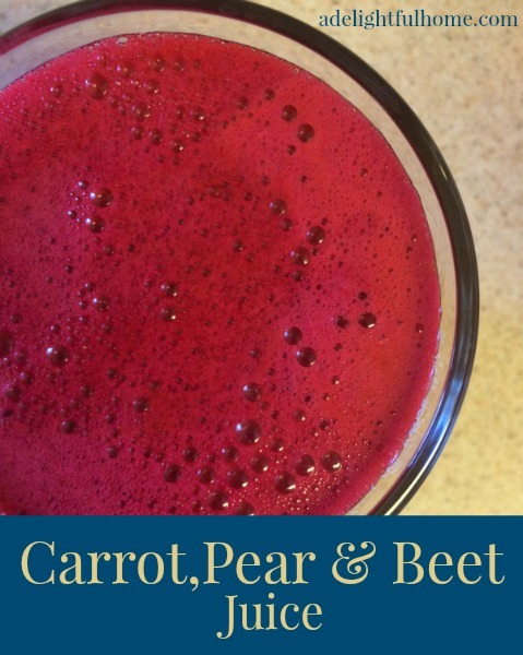 carrot pear and beet juice