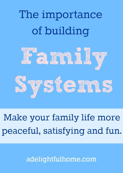 Building Family Systems {A Giveaway!}