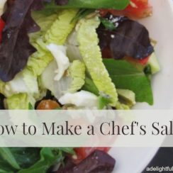 How to Make a Chef Salad | ADelightfulHome.com