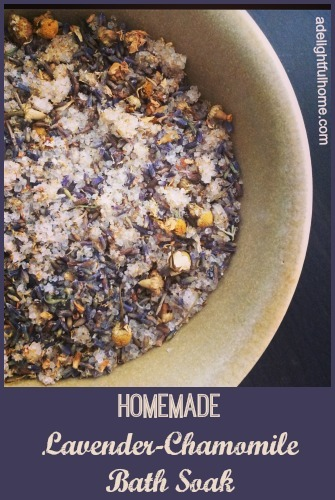 Lavender-Chamomile Bath Soak Recipe