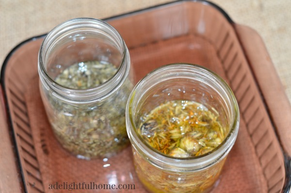 infusing oils in the oven