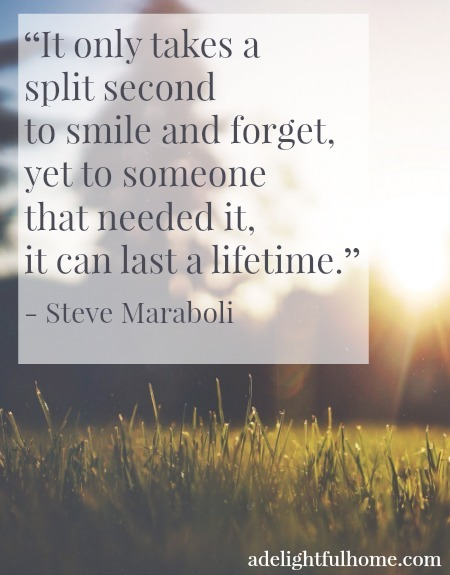 it only takes a split second . . .