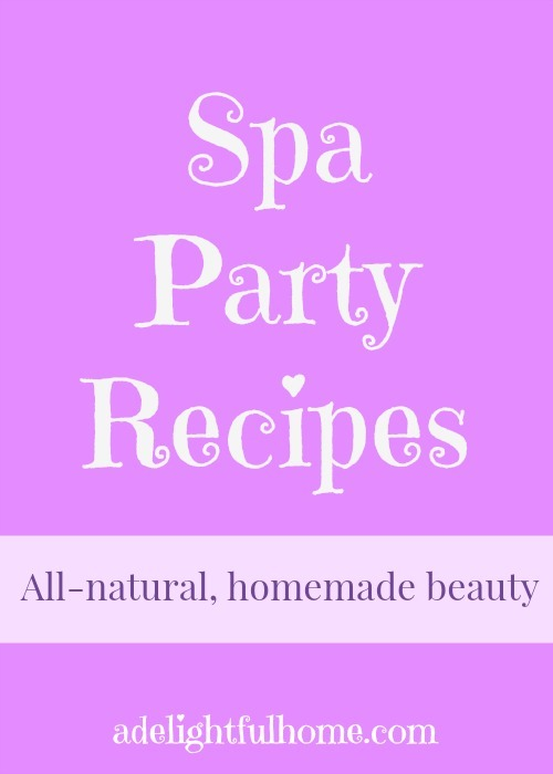 spa party recipes
