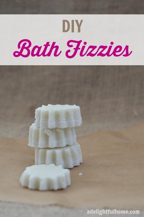 DIY Bath Fizzies | ADelightfulHome.com