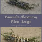 Lavender-Rosemary Fire Logs