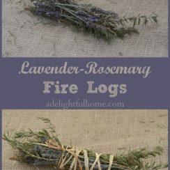 Lavender-Rosemary Fire Logs | aDelightfulHome.com