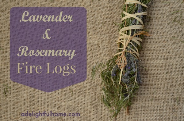Lavender rosemary fire logs