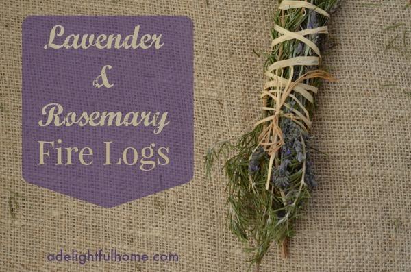 Lavender rosemary fire logs
