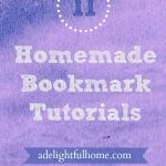 11 Homemade Bookmark Tutorials
