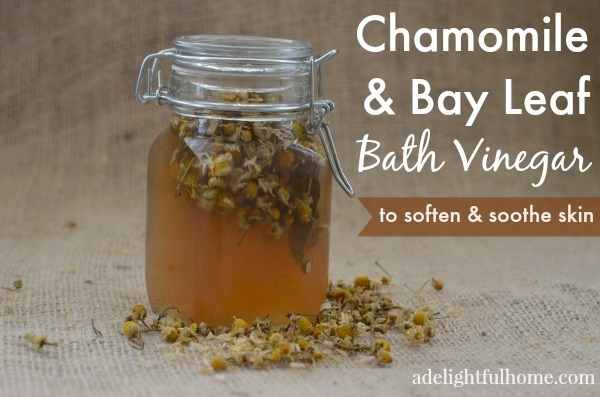 chamomile and bay leaf bath vinegar