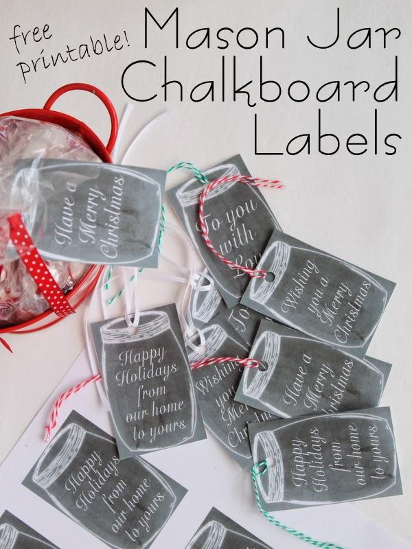 free printable mason jar chalkboard labels