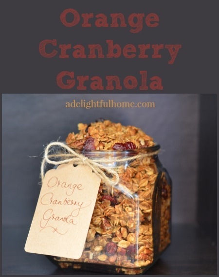 granola - orange and cranberry