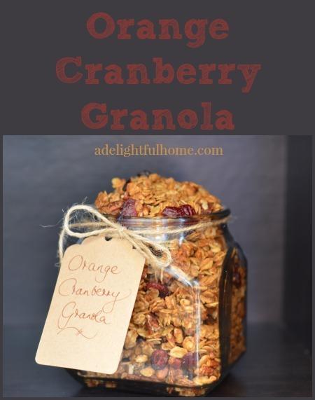 granola - orange and cranberry