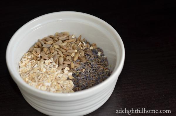 ingredinets for oat bath