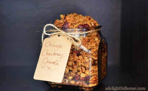 orange cranberry granola