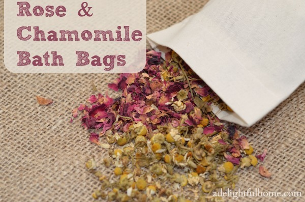 rose chamomile bath bags