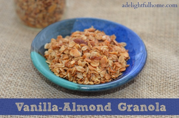 vanilla and almond granola
