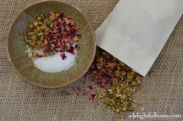 rose chamomile and epsom salts