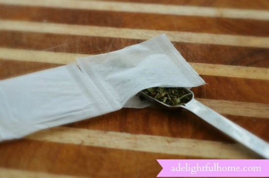 filling-tea-bag-with-herbs