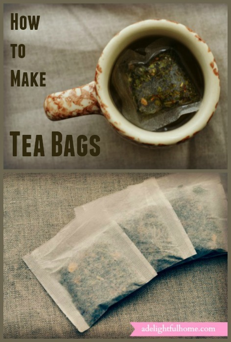 How to Make Tea Bags | ADelightfulHome.com