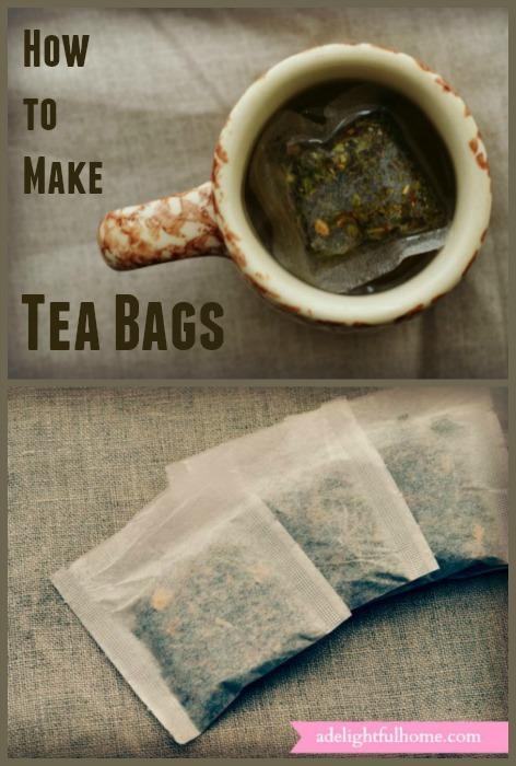 How to Make Tea Bags | ADelightfulHome.com