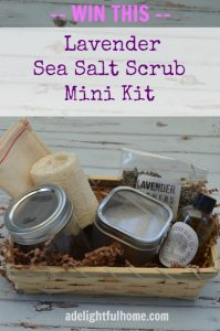 lavender sea salt mini kit