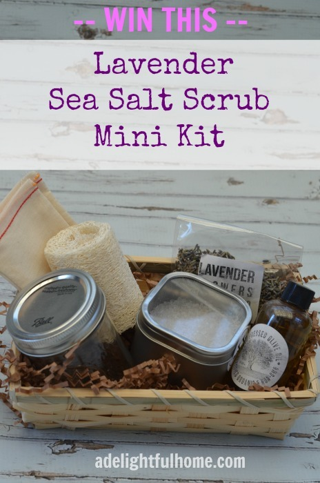 Lavender Sea Salt Scrub | ADelightfulHome.com