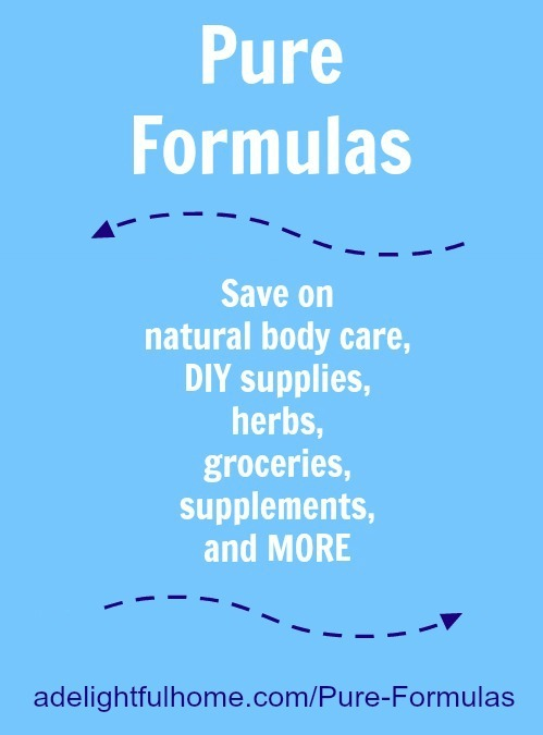 Save on Healthy Living Products at Pure Formulas | aDelightfulHome.com