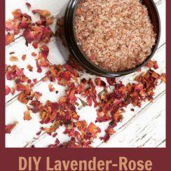 DIY Lavender Rose Bath Soak | ADelightfulHome.com