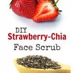 Strawberry-Chia Facial Scrub