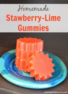 homemade strawberry lime gummies