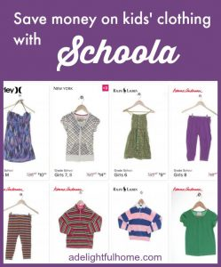 save money on kids clothing with schoola