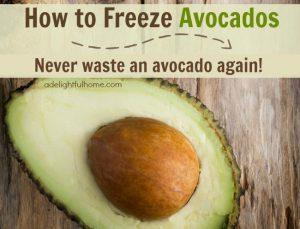 freeze avocados