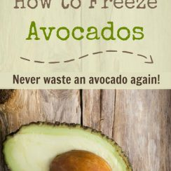 How to Freeze Avocados | ADelightfulHhome.com