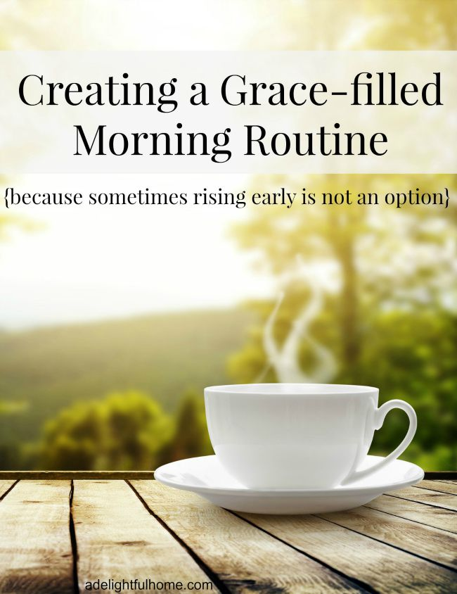 morning routine for hard times