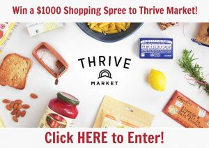 Giveaway: $1000 Shopping Spree to Thrive Market!