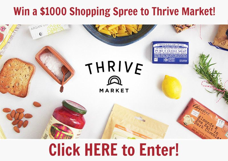 Giveaway: $1000 Shopping Spree to Thrive Market! | aDelightfulHome.com
