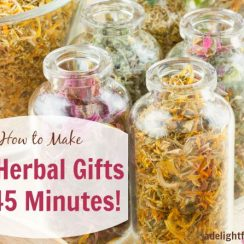 Make 40 Herbal Gifts in 45 minutes | aDelightfulHome.com