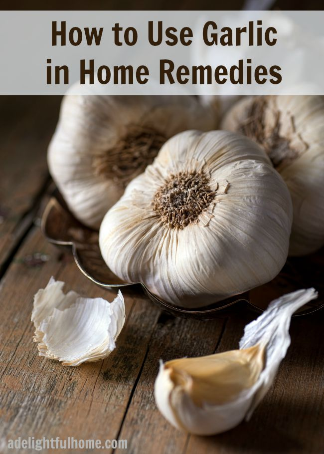 using garlic in home remedies