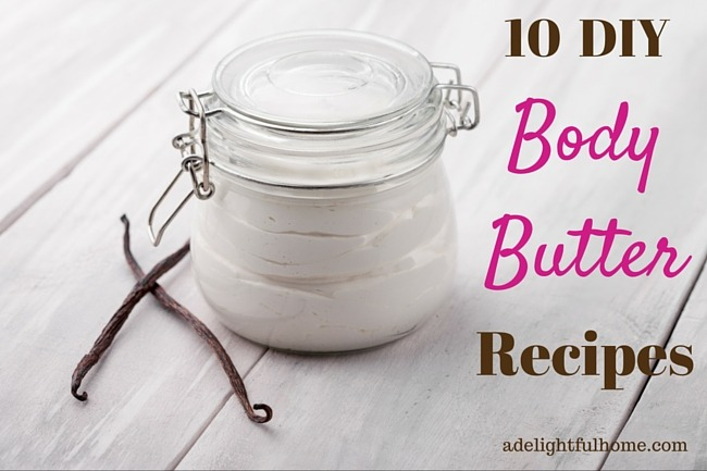 10 DIY Body Butter Recipes | ADelightfulHome.com