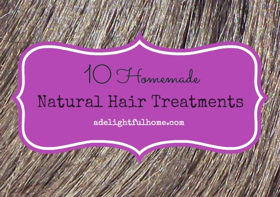 10 Homemade Natural Hair Treatments | aDelightfulHome.com