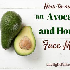 How to Make an Avocado and Honey Face Mask | ADelightfulHome.com