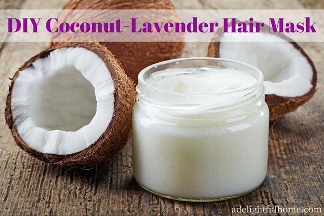 DIY Coconut Lavender Hair Mask | ADelightfulHome.com