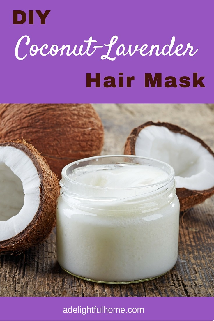 diy coconut lavender hair mask a delightful home. Black Bedroom Furniture Sets. Home Design Ideas