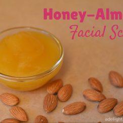 Honey Almond Facial Scrub | ADelightfulHome.com
