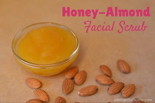 Honey Almond Facial Scrub | ADelightfulHome.com
