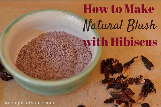 How to Make Natural Blush with Hibiscus | aDelightfulHome.com
